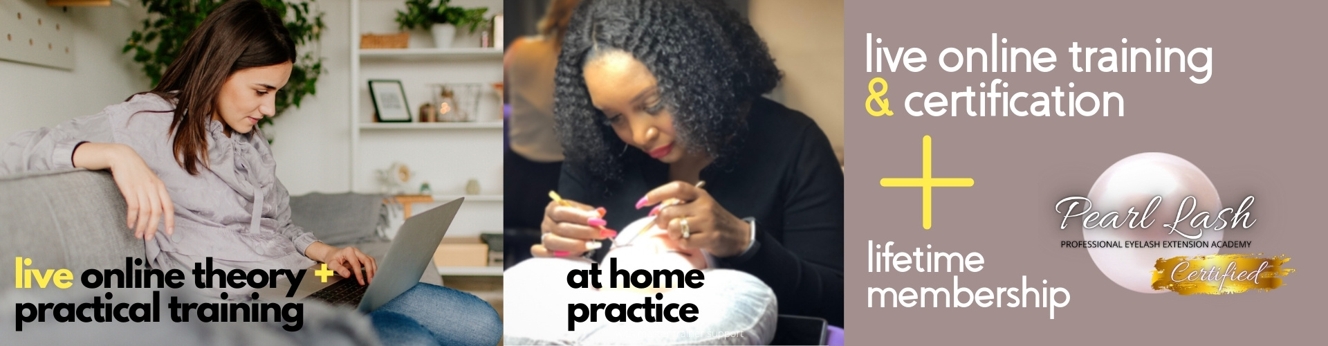 Updated Pearl Lash Online Training Website Banner Classic