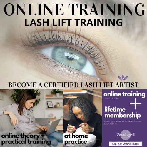 Lash Lift Online Training by Pearl Lash