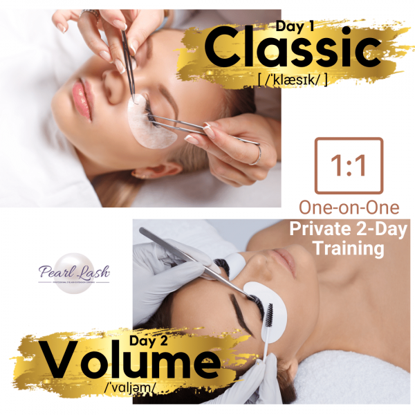 Classic and Volume Private Eyelash Extension Training by Pearl Lash