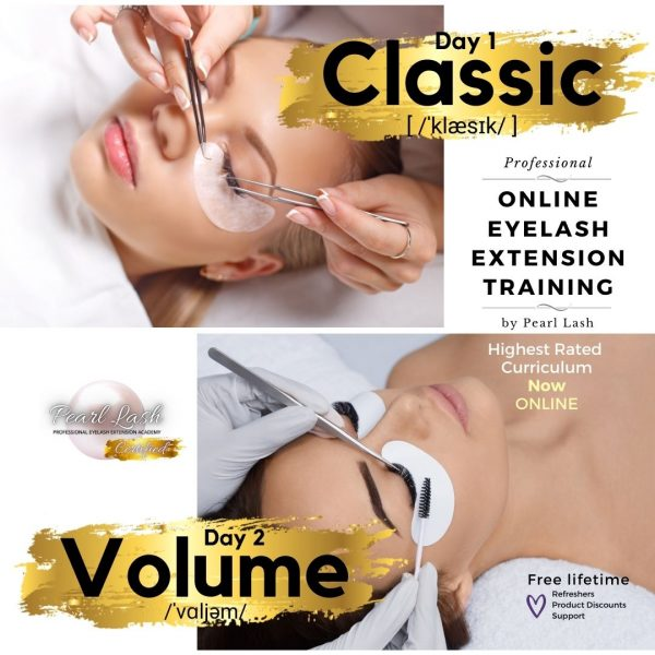 Classic and Volume 2 Day Online Eyelash Extension Training by Pearl Lash Jpg