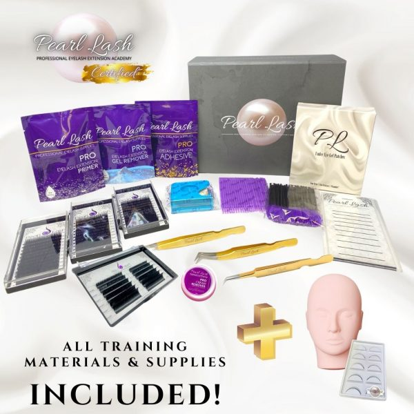 Eyelash Extension Training Supplies Classic and Volume by Pearl Lash are Included